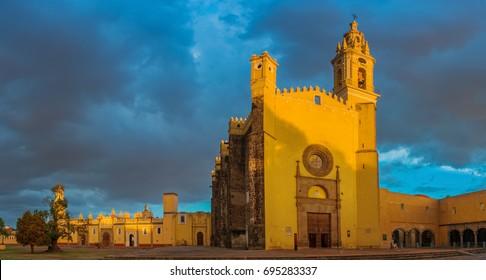 View of Convent of San Gabriel in Cholula, Puebla, Mexico