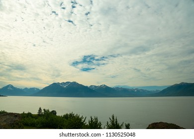 A view of Cook Inlet near Anchorage, Alaska.