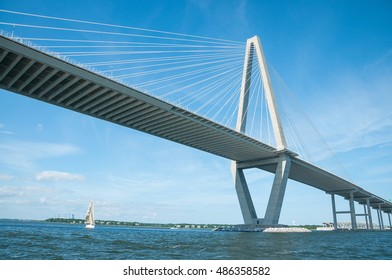 A View of the Cooper River Bridge in Charleston, SC