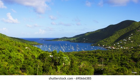 View of Coral Bay in Saint John US Virgin Island