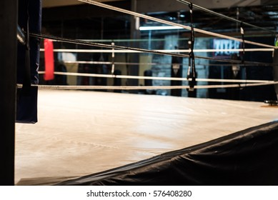 View from the corner of a boxing ring