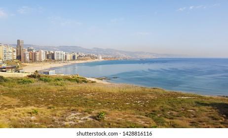 View of the Corniche, Beirut. Lebanon - June, 2019