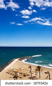 View of Costa Del Sol beach, Spain