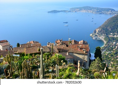 View of Cote d'Azur from Jardin botanique d'Eze