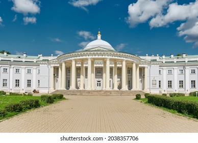 A view of Count Sheremetev Hospice House built in memory of his wife Praskovya Kovaleva-Zhemchugova in 1810, a landmark