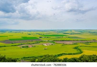 View of countryside around Italian city Lucera