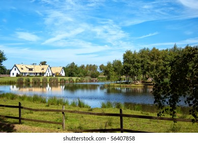 A view of a countryside lake house near the swedish town of Torekov in the skane region of the country. - Shutterstock ID 56407858