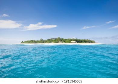 View of Cousin Island nature reserve near Praslin Island, Seychelles