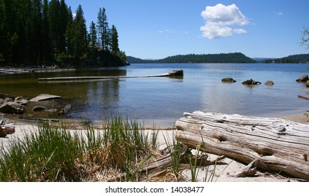 View from cove on Payette Lake near north shore, McCall Idaho