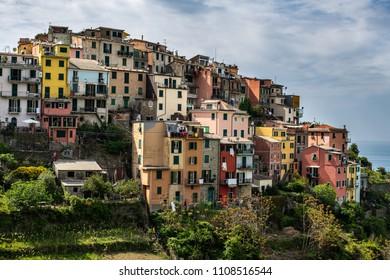 View of the cozy Italian houses