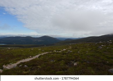 View to Creagan Gorm and  Meall a Bhuachaille. Cairngorm Mountains. Highlands .Scotland
