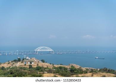 View of the Crimean bridge