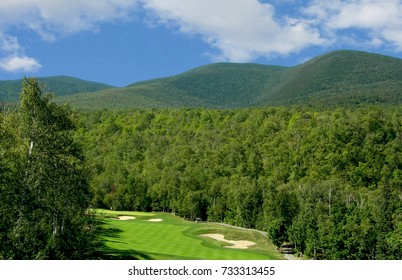 View of the Crocker Mountain in Maine as seen from the Sugarloaf Golf Course