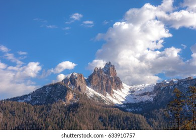 View of Croda da Lago Peak, Cortina d'Ampezzo, Dolomites, Italy