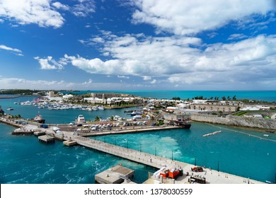 View of the cruise port in KINGS WHARF, BERMUDA