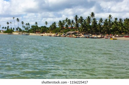 View of the crystalline sea and the coast of the city of Jericoacoara, Ceará, Brazil
