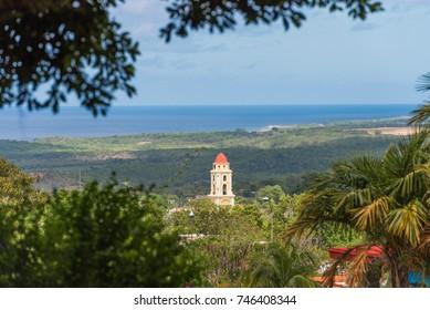 View of the cuban landscape, Trinidad, Sancti Spiritus, Cuba. Copy space for text