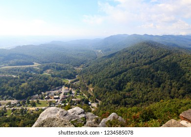 View of Cumberland Gap from Pinnacle Overlook in Kentucky