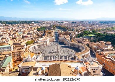 View from the Cupola of St Peter's Basilica in the Vatican