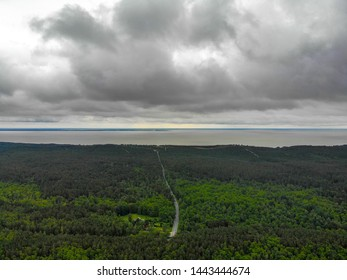 View to Curonian lagoon. Curonian spit - unique place among Baltic sea and Curonian lagoon