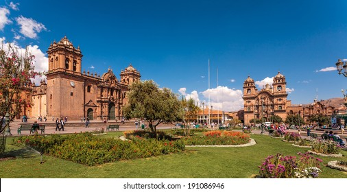 View of  Cuzco cathedral church