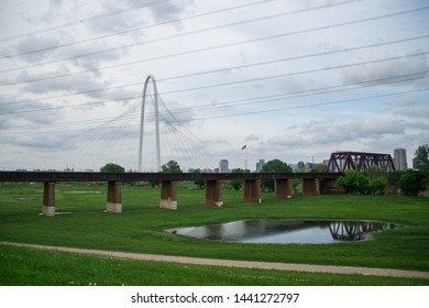 View at Dallas and Margaret Hunt Hill Bridge, Texas, USA