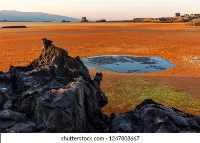 View of Dallol volcano, Danakil Depression, Ethiopia