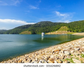 A view of the dam in Teluk Bahang on a sunny day - Penang, Malaysia