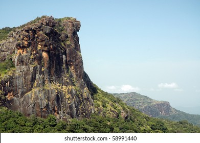 View of dame de mali in fouta djalon mountains in Guinea