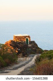 View of dammuso, tipycal house in Pantelleria, Sicily