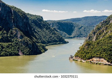 View at Danube gorge at Djerdap in Serbia