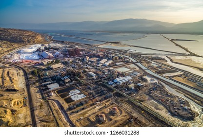 A view of the Dead Sea Industries mineral mine