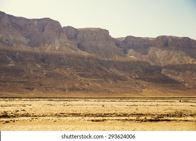 view from the Dead Sea to the mountains