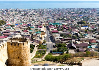 View of Derbent city from Naryn-Kala fortress. Republic of Dagestan, Russia