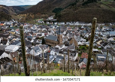 View of Dernau an der Ahr in Germany.  Dernau is a popular wine-growing region and is visited by many tourists.
