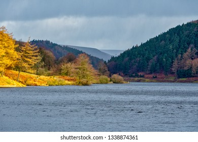 View of Derwent Reservoir, Peak District, Derbyshire, UK. This was the practice location for the Dambusters in 1943