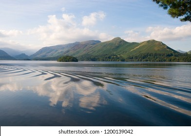A view of Derwent Water with Catbells near Keswick, Lake District, Cumbria, England