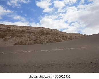 view of desert of atacama, chile