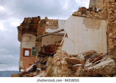 A view of destruction caused by the terrible earthquake in the village of Onna (Aquila ? Abruzzo - Italy)
