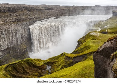 View of Detifoss waterfall in Iceland