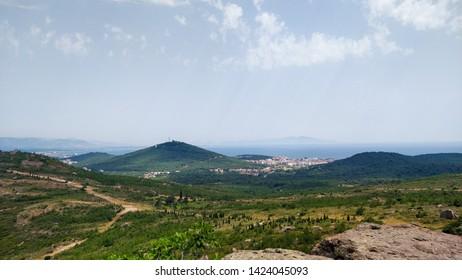 A view from Devil's Table (Seytan Sofrasi) Ayvalik, Turkey.
