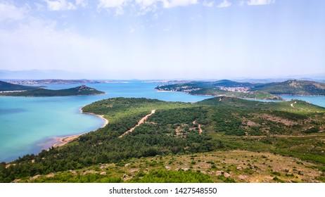View from Devil's Table (Seytan Sofrasi), Ayvalik, Balikesir, Turkey. An aegean landscape.