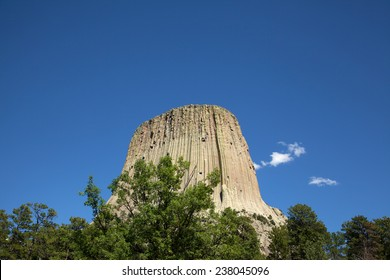 A view of Devil's Tower in Wyoming.