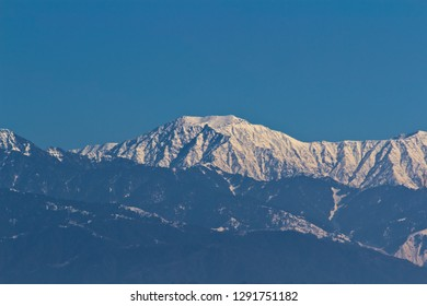View of Dhauladhar mountain range from Dhar village on Pathankot - Dalhousie national highway.