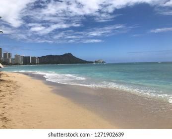 View of Diamondhead in Hawaii