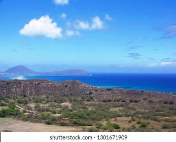 View from Diamondhead summit, Hawaii