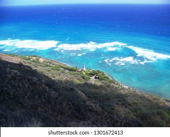 View from Diamondhead summit, Oahu