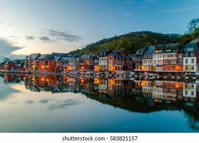 View of Dinant (Belgium) in evening