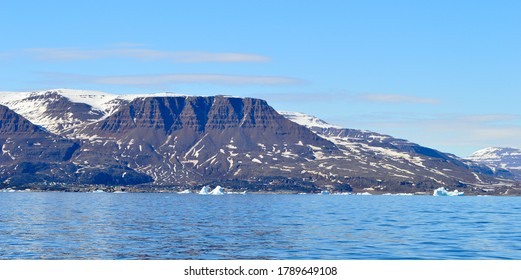 View of the Disko Island from the ferry, Greenland