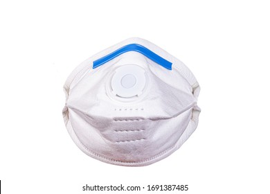 View of Disposable Respirator Mask FFP3 FFP2, respiratory protection against Covid-19, particles, mists, odors, acid gases. Fine dust medical mask FFP 3 with breathing valve
